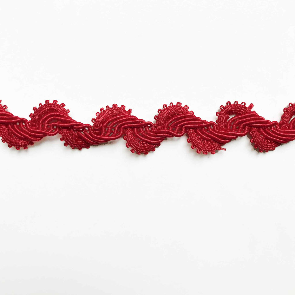 Red High Quality Decorative Loop Trim by the yard