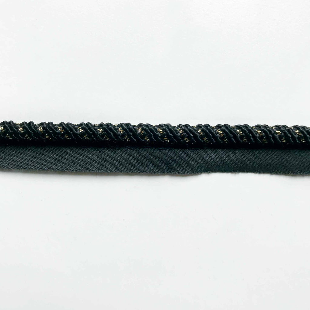 Black High Quality Decorative Lip Cord Trim by the yard