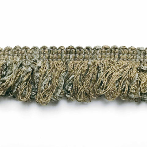 Olive Green High Quality Decorative Brush Fringe Trim by the yard