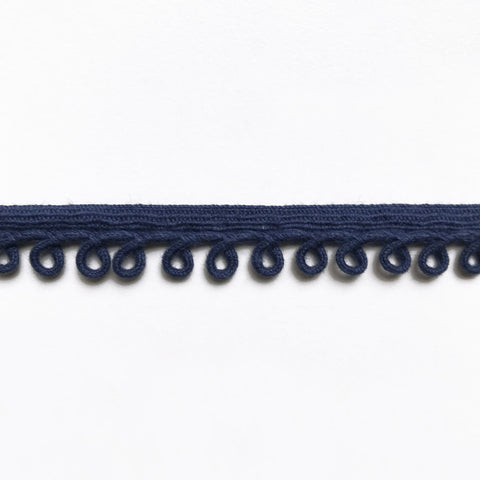 Navy Blue High Quality Decorative Loop Trim by the yard