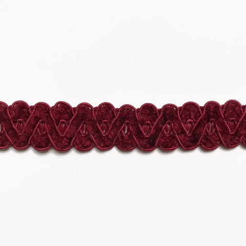 Burgundy High Quality Decorative Gimp Trim by the yard