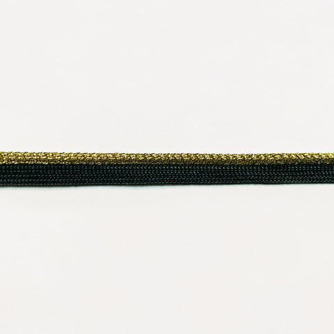 Gold and Black High Quality Decorative Lip Cord Trim by the yard