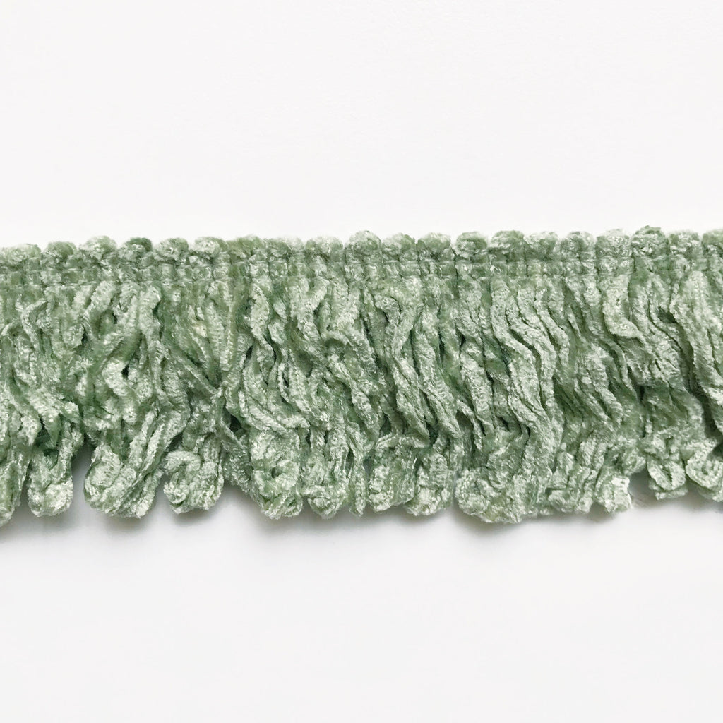 Light Green High Quality Decorative Brush Fringe Trim by the yard