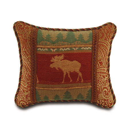"Balsam Moose in Forest Decorative Pillow 15""x18"""
