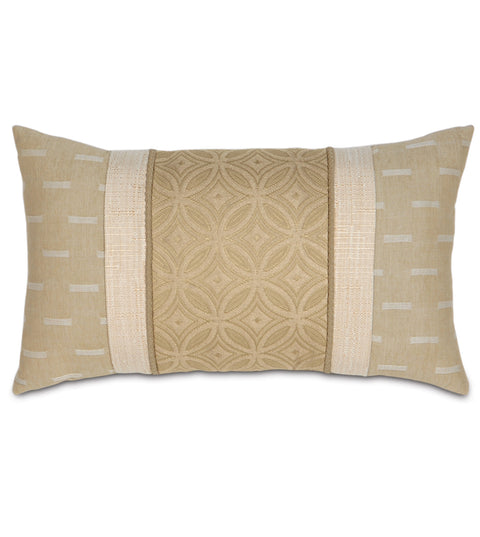 "Ginger Contemporary Decorative Boudoir Pillow Cover 13"" x 22"