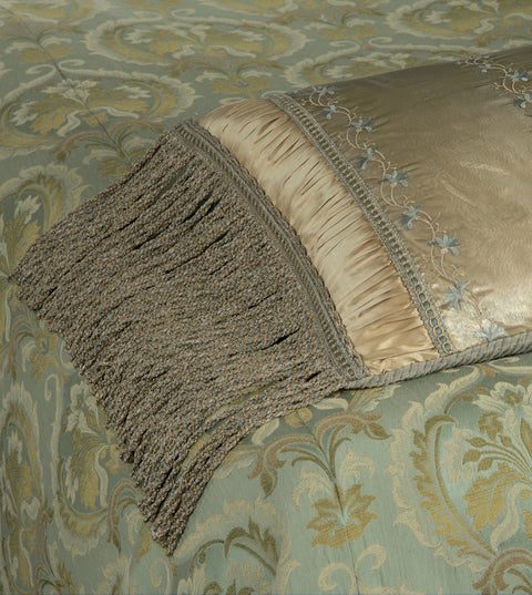 "Jasmine Hazel Silk Decorative Grand Sham Cover 20"" x 60"""