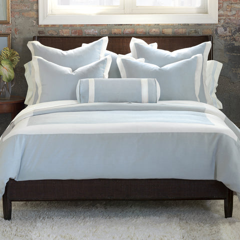Beverly Linen Bedset in Light Blue (Super Queen)