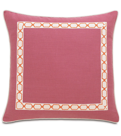 "Carolina Bloom Rose Pink Euro Decorative Pillow Cover 27"" x 27"""