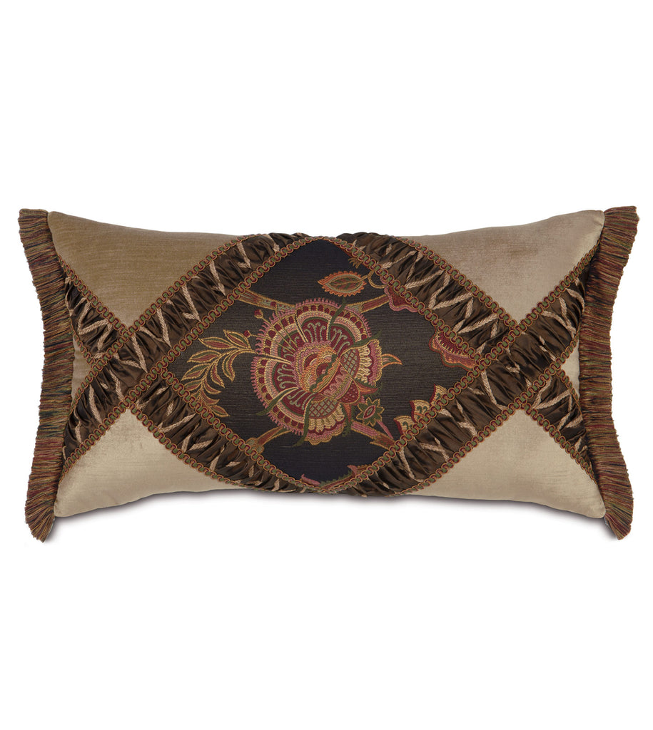 "Cassandra Diamond Collage Pillow Cover 15"" x 26"""