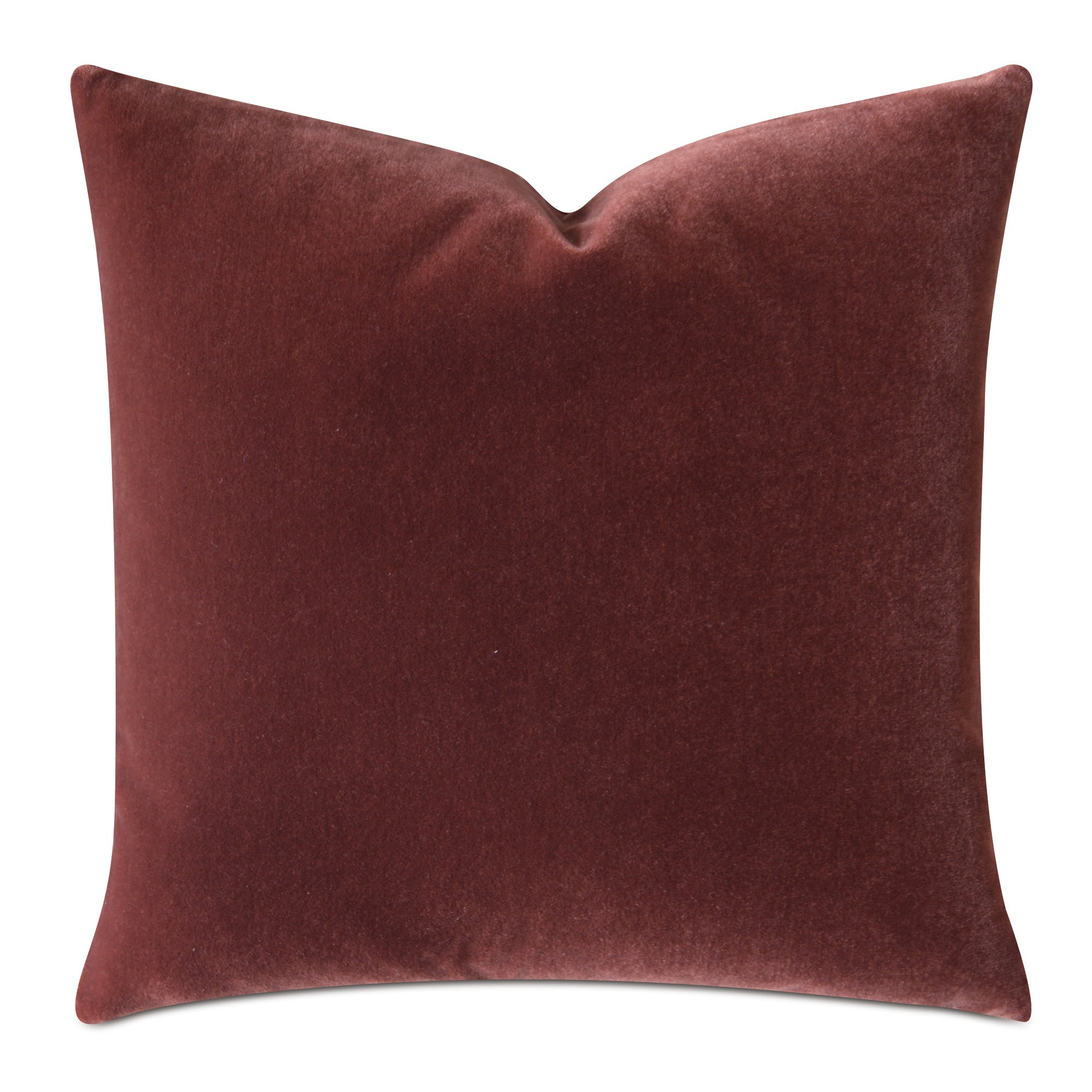 Burnt Orange Luxury Mohair Decorative Pillow Cover  Cayenne