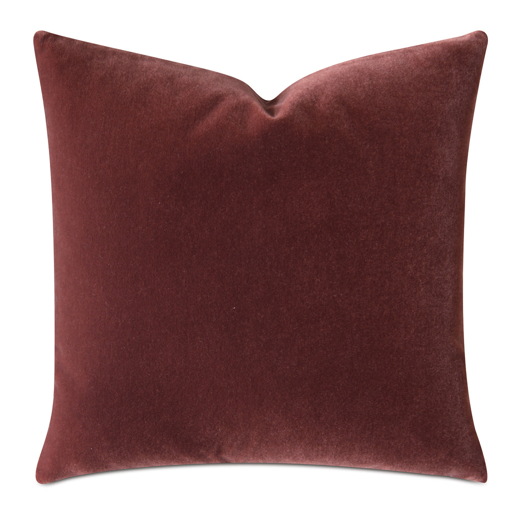Burnt Orange Luxury Mohair Decorative Pillow Cover - Cayenne