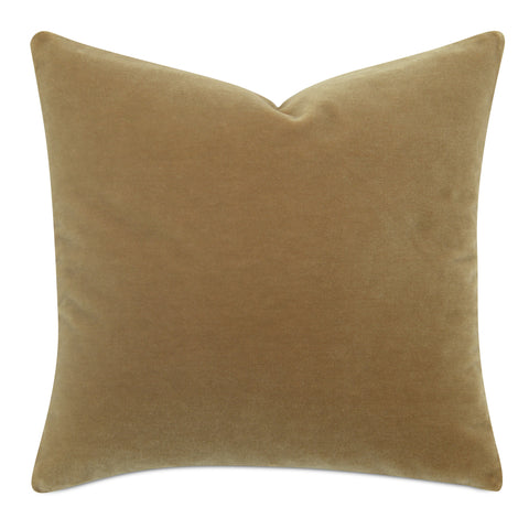 Tan Luxury Mohair Euro Sham Cover - Chestnut