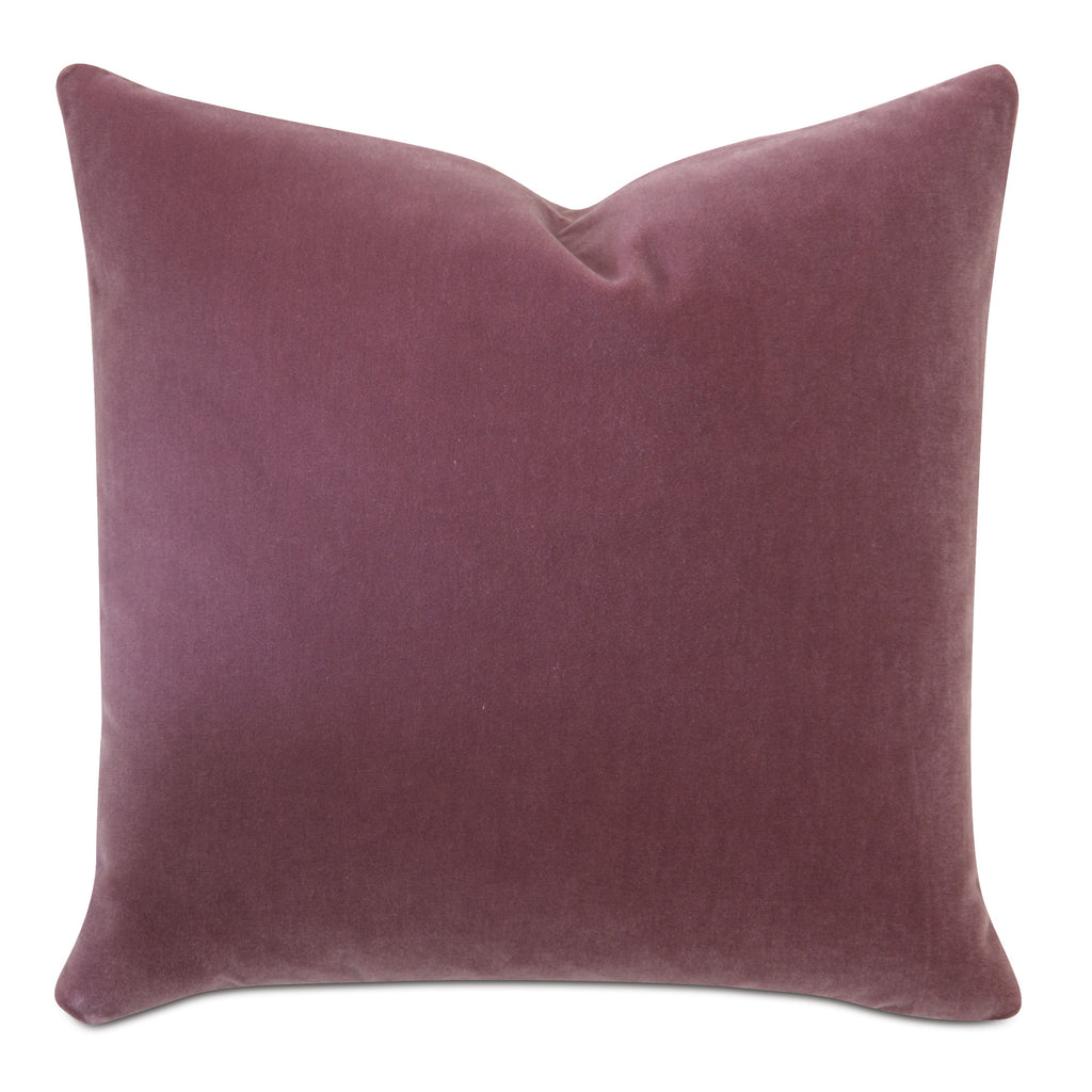 Rose Luxury Mohair Euro Sham Cover - Crushed Berry