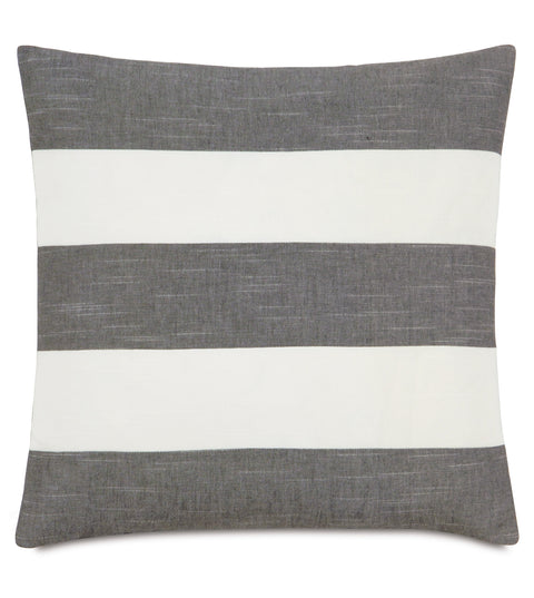 "Austin Duvall Slate Stripes Decorative Pillow 20"" x 20"""