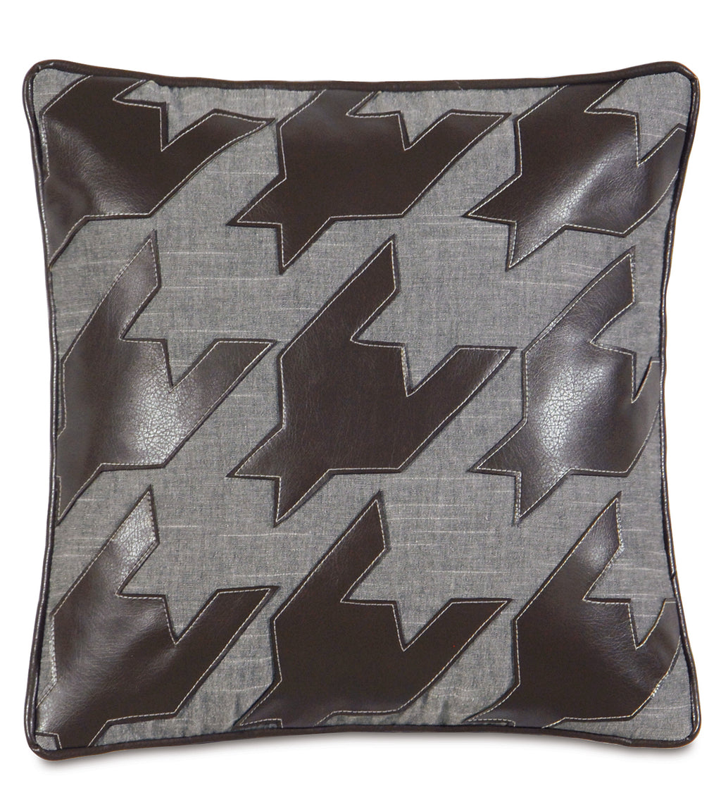 "Austin Duvall Houndstooth Decorative Pillow 18"" x 18"""