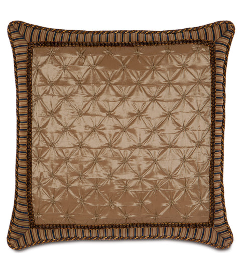 "Metallic Golden Copper Euro Sham Pillow Cover 27"" x 27"" P"