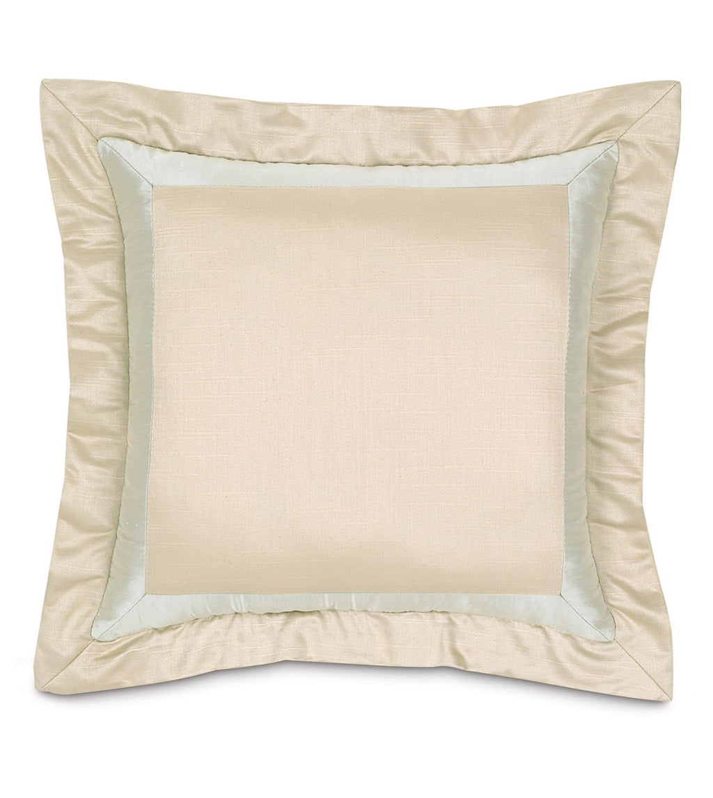 "18""x18"" Evora Ivory with Flange Decorative Pillow Cover"