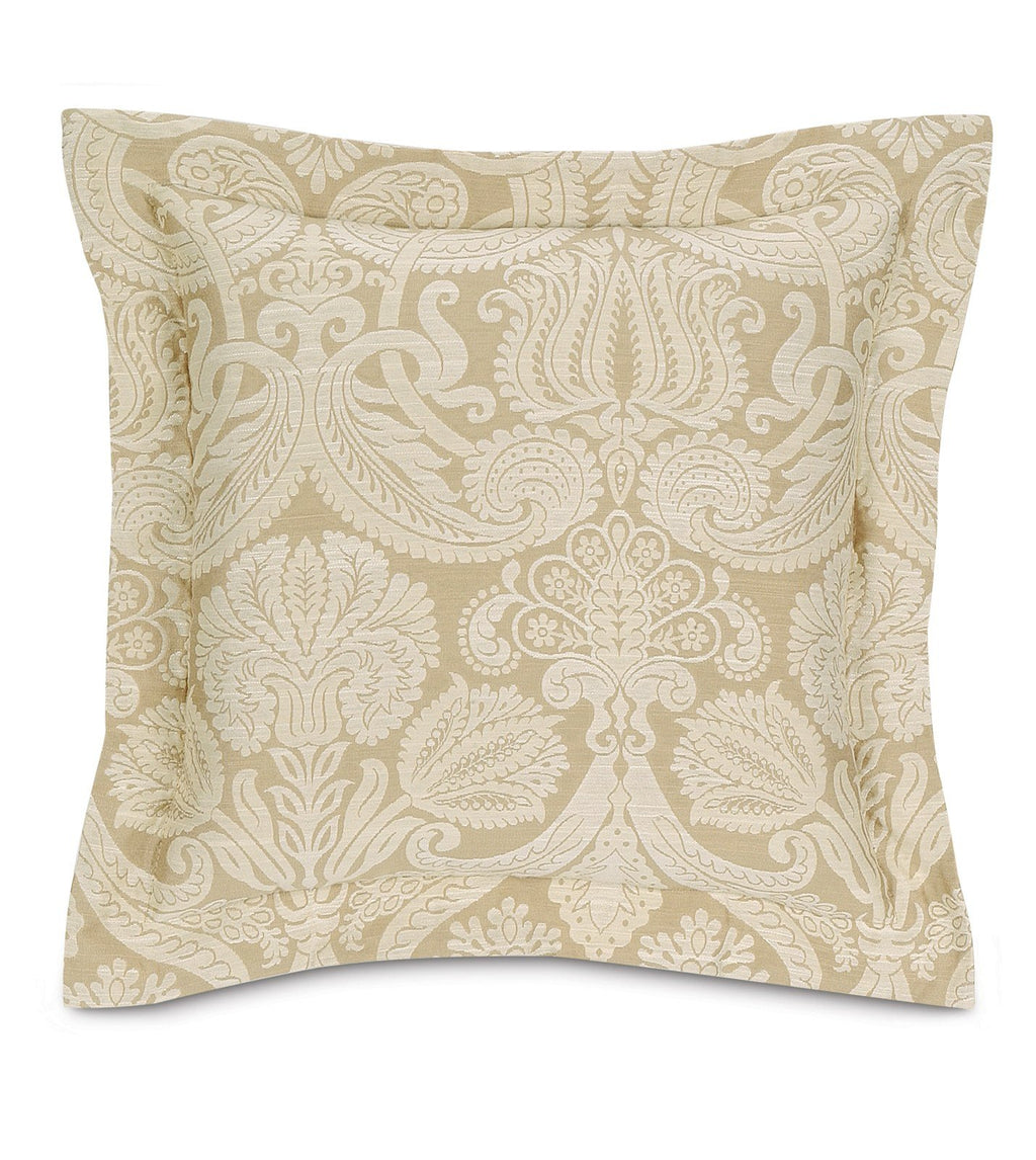 "18""x18"" Evora Damask Glam Decorative Pillow Cover"