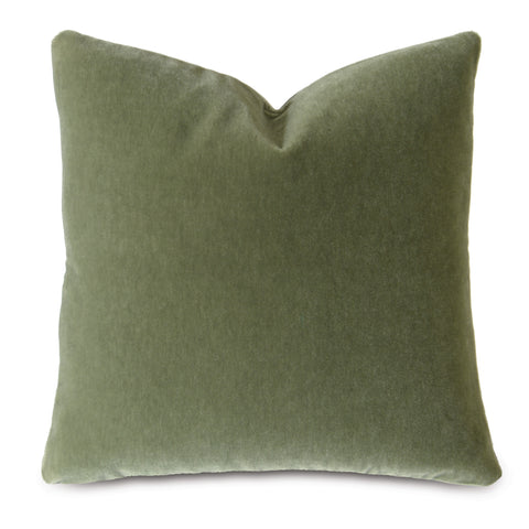 Sage Green Luxury Mohair Euro Sham Cover - Endive
