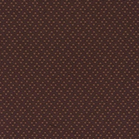 Brown Dobby Dot Diamond Textured Upholstery Fabric