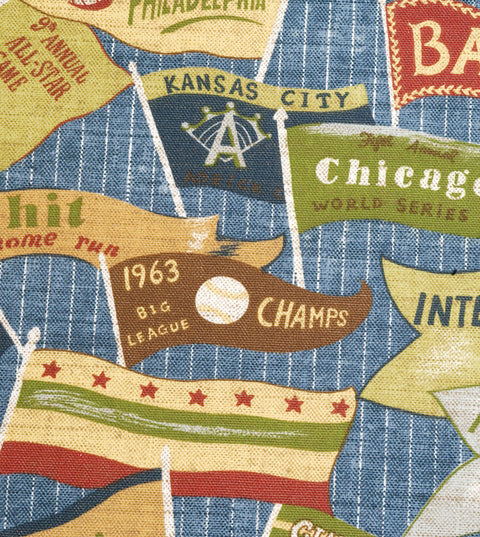 Baseball Print Cotton Upholstery Fabric