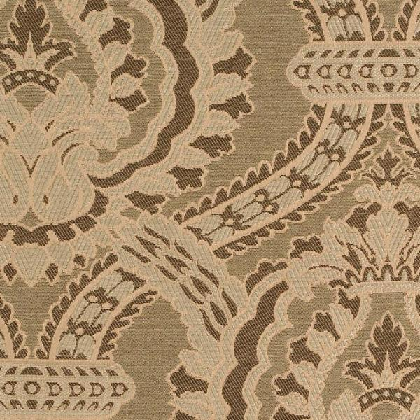 Olive Green Jacquard Weave Upholstery Fabric