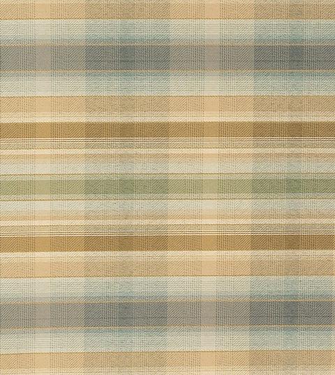 Gold Plaid Upholstery Fabric