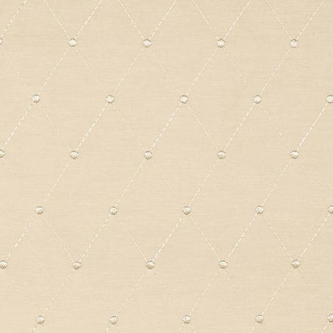 Embroidered Ivory Faille Fabric