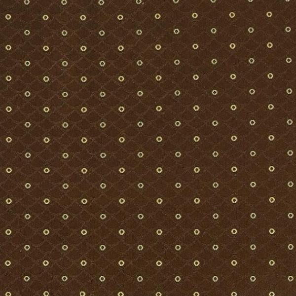 Chocolate Jacquard With Dobby Dot Upholstery Fabric