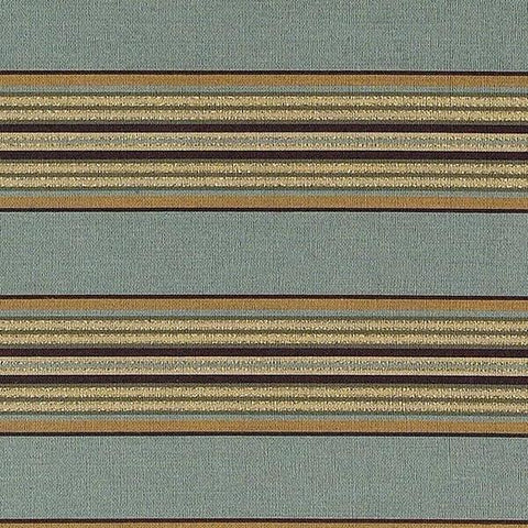 Blue Woven Traditional Stripe Upholstery Fabric 54""