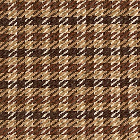 Fall Hued Houndstooth Upholstery Fabric
