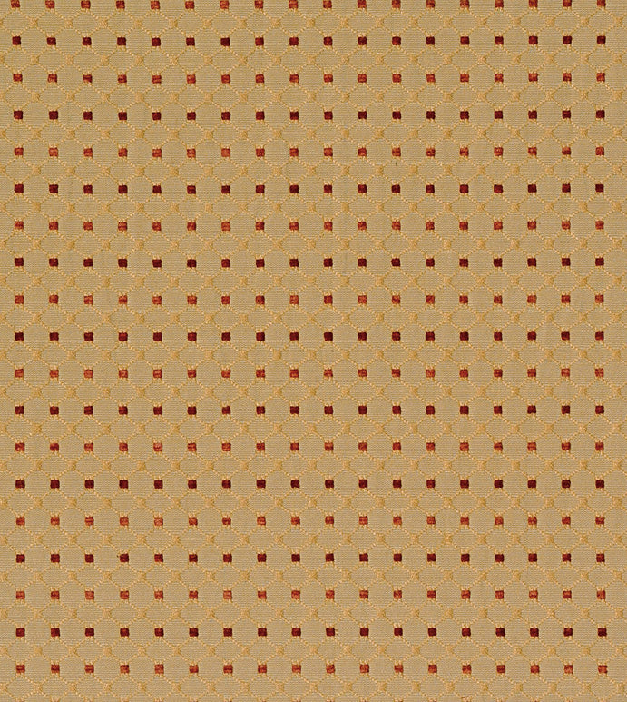 Gold Diamond Embroidered Dot Upholstery Fabric