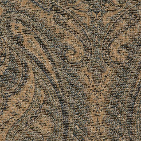 Traditional Tan Paisley Jacquard Weave Upholstery Fabric