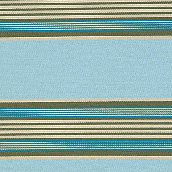 Blue Cotton Twill Striped Upholstery Fabric Plankroad Home Decor