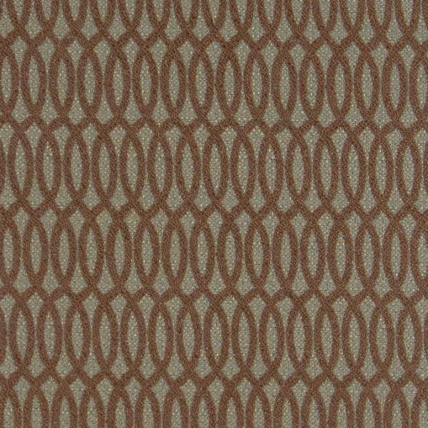 Olive Green Brown Geometric Upholstery Fabric