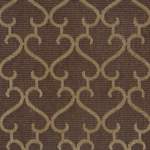 Brown Beige Patterned Upholstery Fabric