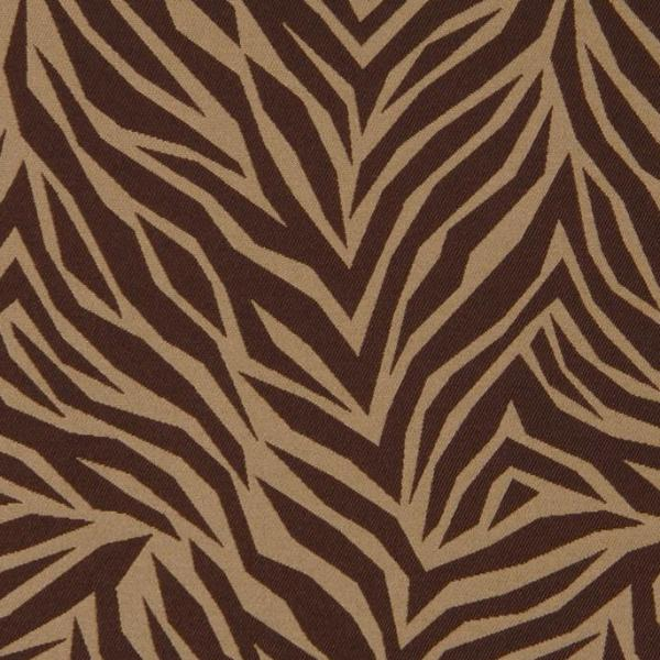 Brown Tan  Zebra Print Fabric