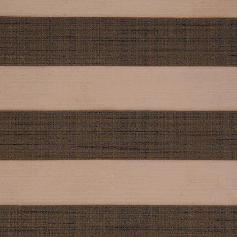 Beige Brown Bold Woven Stripe Upholstery Fabric