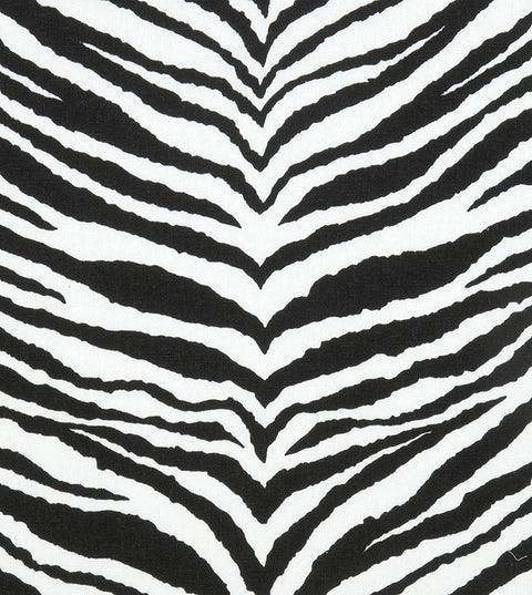 Black White Zebra Print Broadcloth Fabric