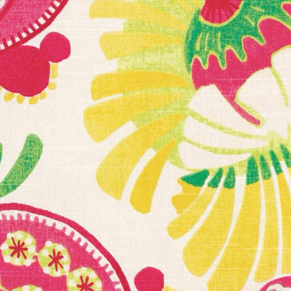 Bright Multicolored Floral Print Upholstery Fabric