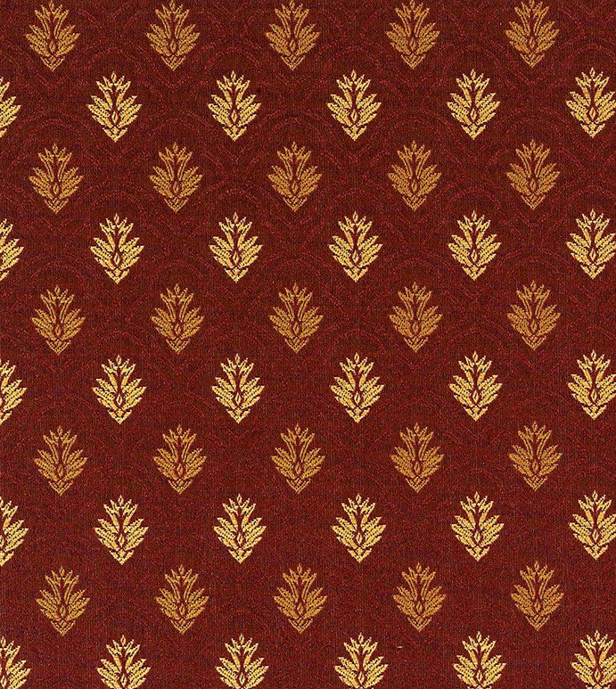 Fall Leaf Brocade Upholstery Fabric