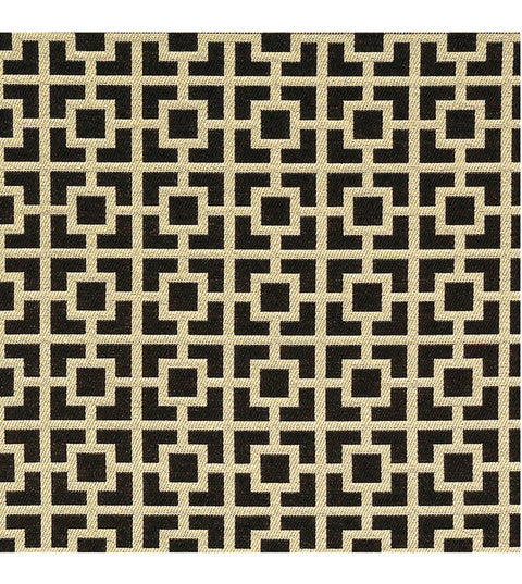 Black Gold Jacquard Upholstery Fabric