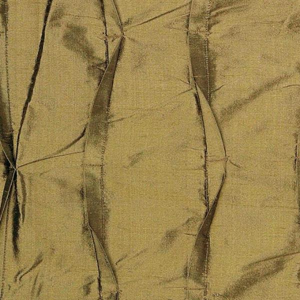 100% Silk Twist Pleated Olive Green Fabric
