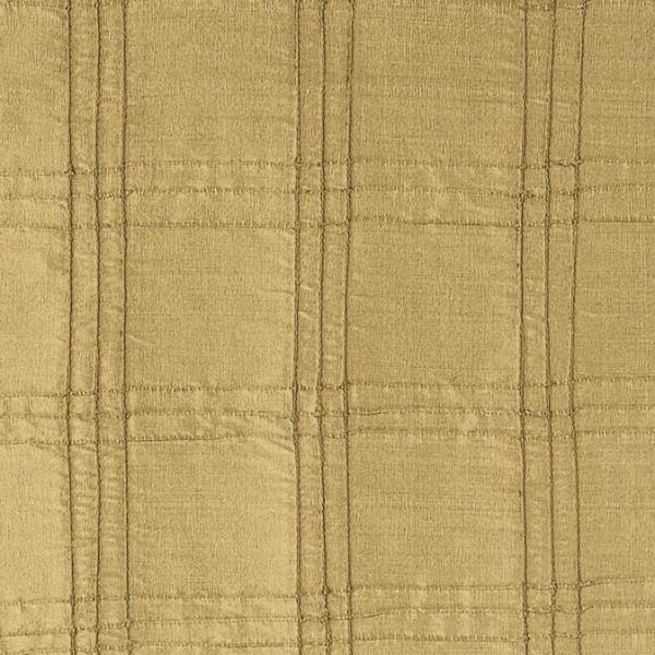 100% Silk Gold Pleated Fabric