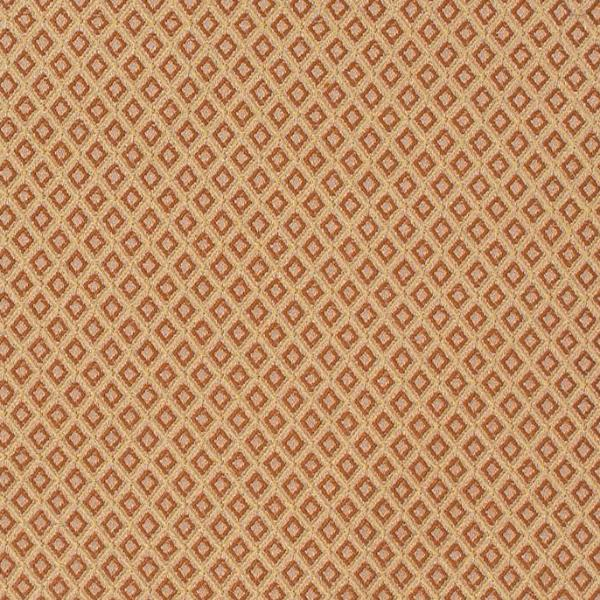 Gold Red Diamond Pattern Upholstery Fabric