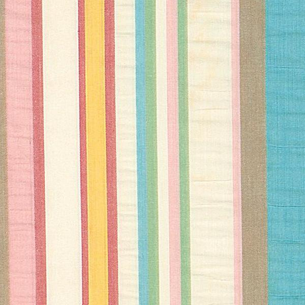 Rainbow Striped Seersucker Fabric