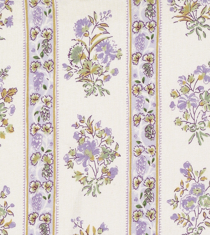 Lavender Floral Printed Cotton Upholstery Fabric Plankroad Home Decor