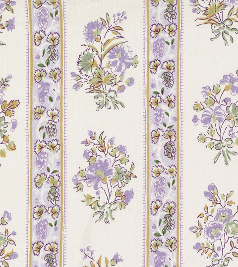 Lavender Floral Printed Cotton Upholstery Fabric