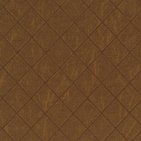 Brown Diamond Embroidered Faille Upholstery Fabric