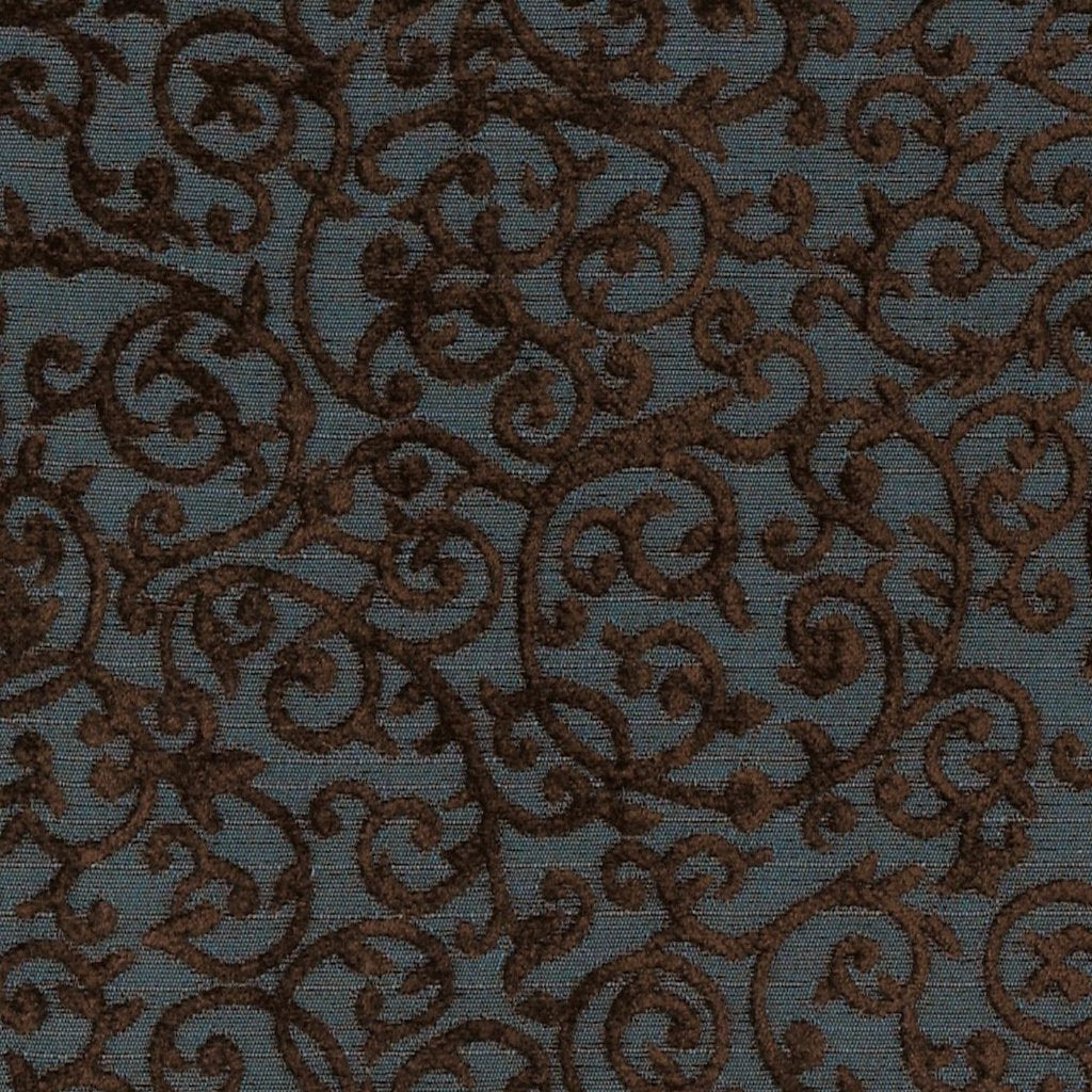 Navy Brown Embroidered Floral Upholstery Fabric Plankroad Home Decor